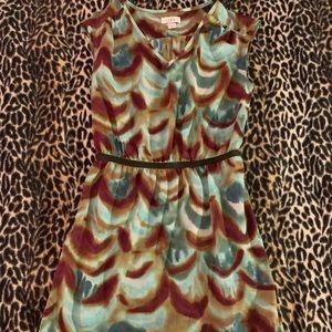 The loft fall water color dress